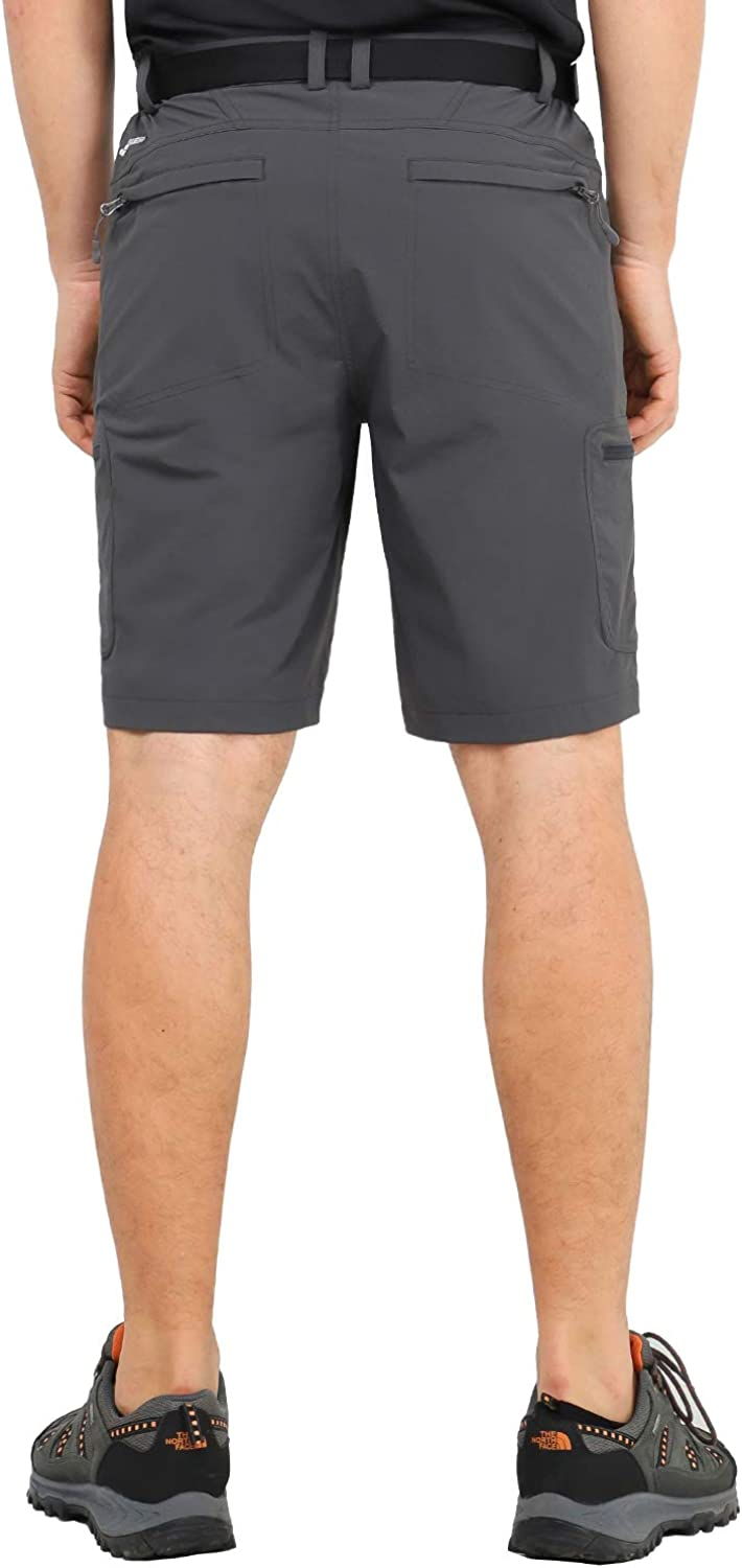 Stretchy Water Resistant MIER Mens Quick Dry Hiking Shorts Lightweight Cargo Shorts with 6 Pockets
