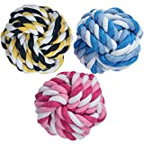 MAOMAO Dog Rope Toy Durable Chew Knot Ball for Aggressive Puppy Pets(Pack of 3)-2