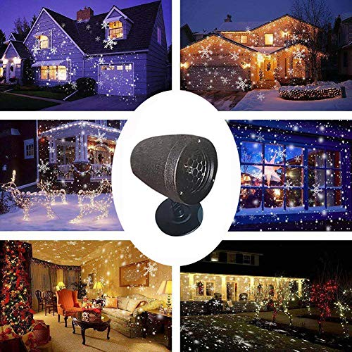 Nesee Christmas Snowfall Projector Lights, Rotating LED Snow Projection, Outdoor Landscape Decorative Lighting for Christmas, Holiday, Party, Wedding, Garden, Patio