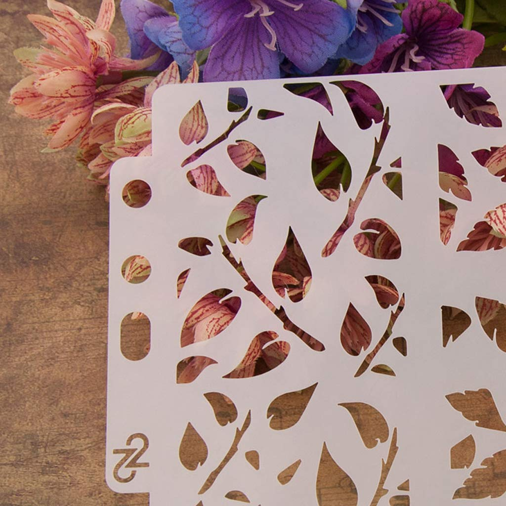 Fafalloagrron Leaves Stencils Template Painting Scrapbooking Embossing Stamping Album Crafts