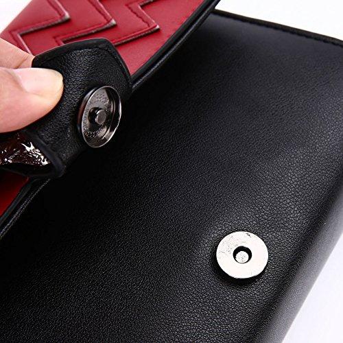 Bandolera hombro de pequeño bloqueo salvaje paquete Bolso D cuadrado personalidad Las señoras niñas de bolsas para D retro del qOnw04