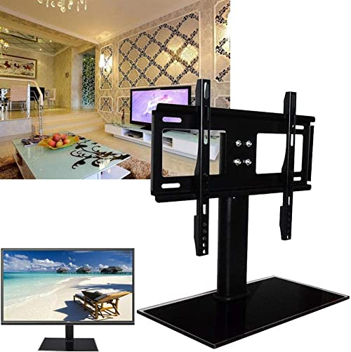Yosooo Universal TV Stand, Black TV Table Top Stand, Height Adjustable TV Base Stand, TV Flat Screens Mount Bracket D800 26 -32 D800 37 -55 D900 52 -71 37-55inches