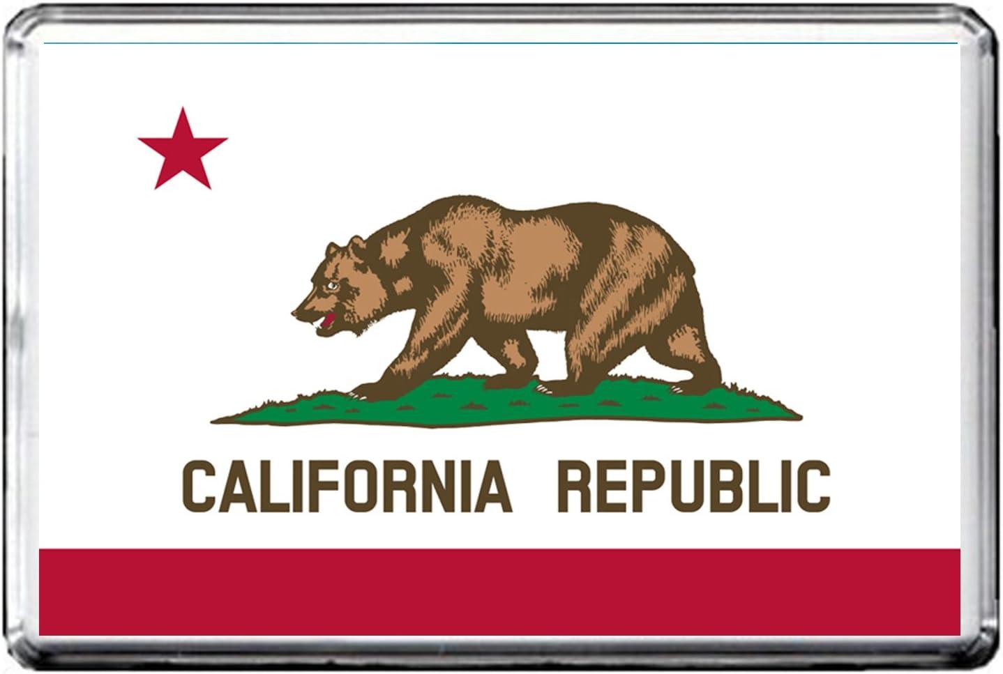 0140 CALIFORNIA FLAG AIMANT POUR LE FRIGO STATE OF USA FLAG REFRIGERATOR MAGNET
