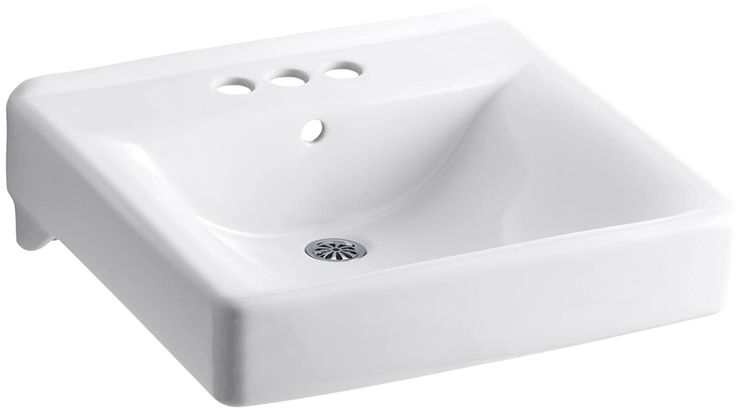 Kohler K 2054 0 Soho Wall Mount Bathroom Sink White Wall Mounted Sinks Amazon Com