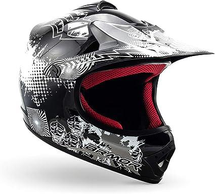 Amazon.es: ARMOR Helmets AKC-49 Casco Moto-Cross, DOT certificado, Bolsa de transporte, XS (51-52cm), Negro