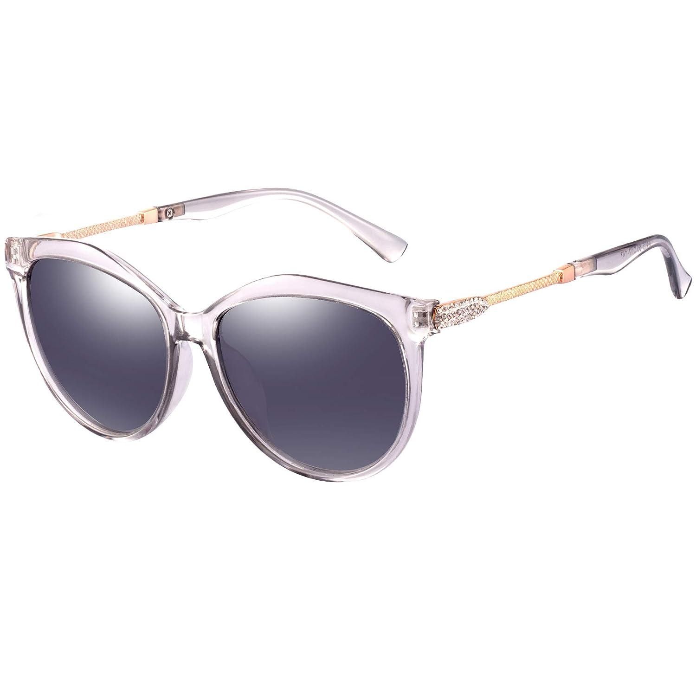 f6fcb5e5e25e9 Women`s Polarized Sunglasses for Women - FEIDU Polarized Sunglasses for  Women Sunglasses FD2151 (clear grey
