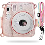 Katia Camera Case Bag for Fujifilm Instax Mini 9 Instant Camera , also for Fujifilm Instax Mini 8 Instant Film Camera with Strap - Shining Pink