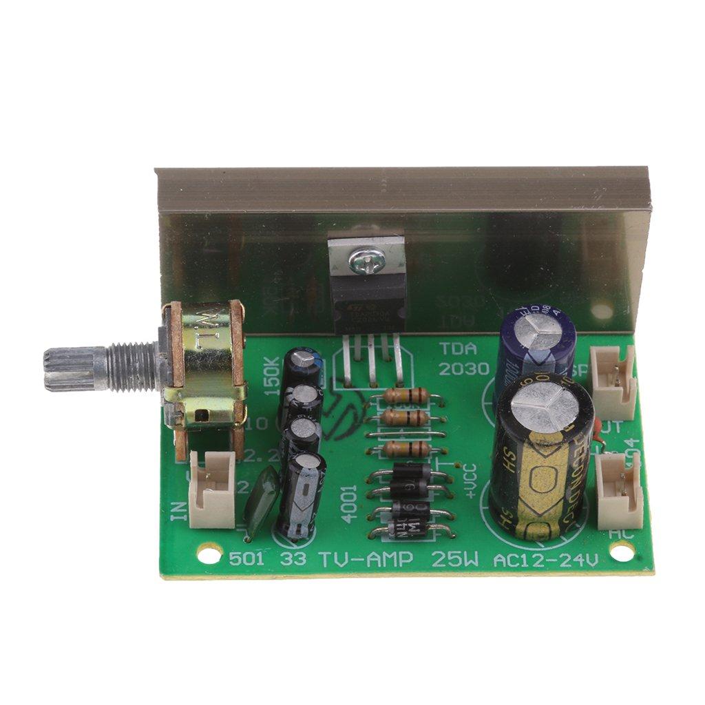 IPOTCH 1 Pieza Mó dulo de Placa Amplificadora de TDA2030 Mono 20W AC/DC 12V Tablero de Digital