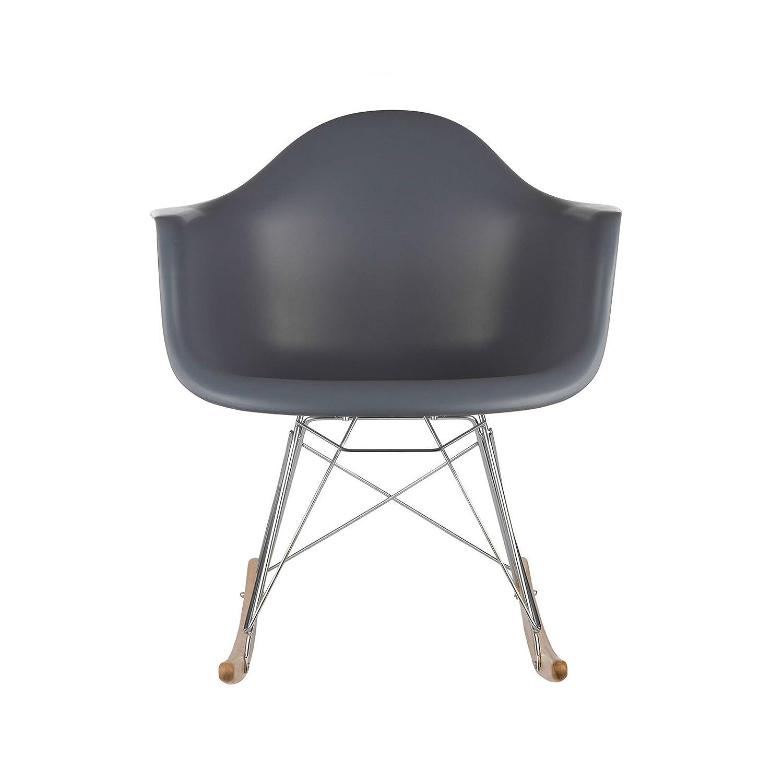 Rar rocking chairs eames style rar rocking arm chair grey - Amazon Com Poly And Bark Eames Style Rar Rocking Chair Grey Kitchen Dining