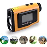 Golf Finder 600 Yards Digital Laser Rangefinder Scope with 1.8 Inch LCD Screen Yellow