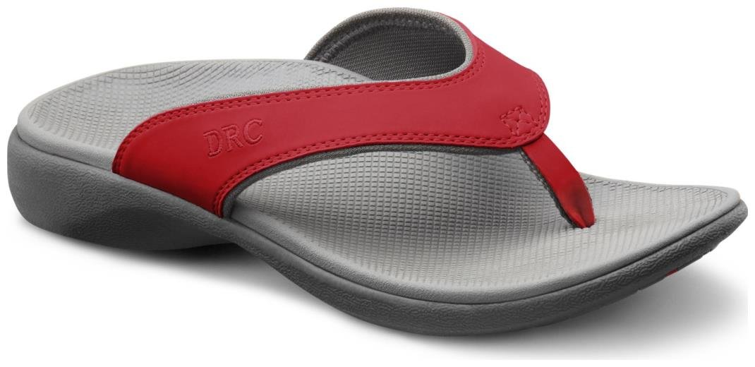 Dr. Comfort Women's Shannon Red Sandals