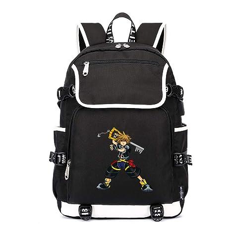 Unisex Kingdom Hearts Mochila para Niños y Adolescentes Impresión Casual Mochilas Viaje Impresión Mochilas Escolares Popular