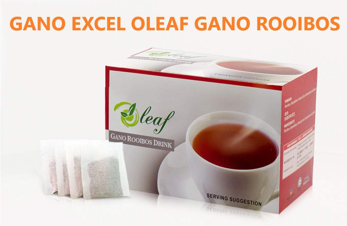 20 Box Gano Excel Oleaf Ganotea Rooibos Drink 20 Tea Bags Each + 5 Sachet Gano Excel Mocha by GANO EXCEL INTERNATIONAL