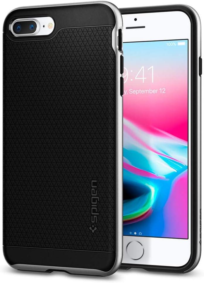 Spigen Neo Hybrid [2nd Generation] Designed for iPhone 8 Plus Case (2017) / Designed for iPhone 7 Plus Case (2016) - Satin Silver