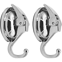 KingYH 2 Pack Suction Hooks Suction Cup Hook Vacuum Seamless Sucker Hook Wall Powerful Lock Bath Towel Hook Heavy Duty…