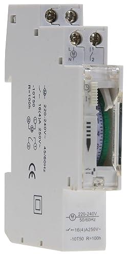 Schema Quadro Elettrico Per Illuminazione Pubblica : Timer analogico da incasso per quadro di distribuzione ore