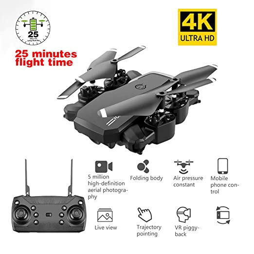 MROSW LF609 Drone 4K HD con La Cámara WiFi Me Sigue Quadcopter FPV ...