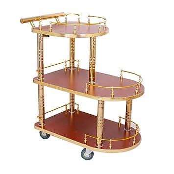Incroyable Guoyajf Portion Chariot,Bar Cart - Chariot De Cuisine Bois Massif JP-91