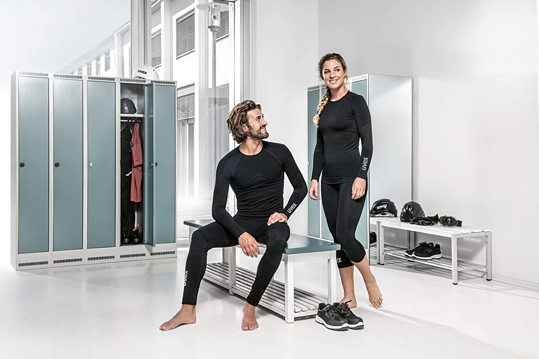 W/ärmende Merino-Wolle Sport /& Freizeit Uvex Herren-Leggings