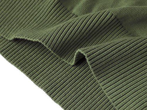 MOCOTONO Men's V-Neck Cotton Sleeveless Sweater Casual Vest Green Medium by MOCOTONO (Image #5)