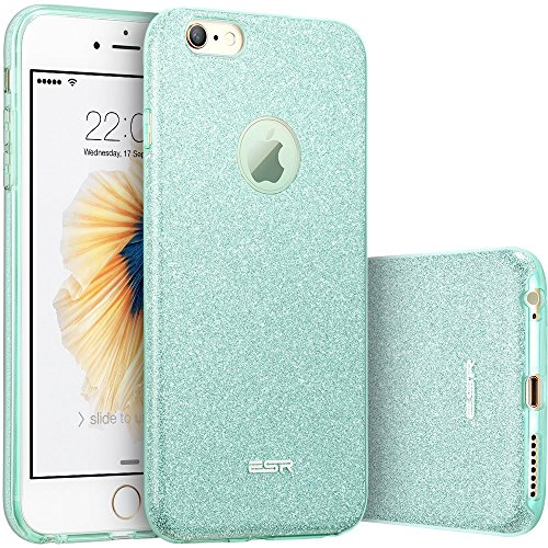ESR Case for iPhone 6/6s, Luxury Glitter Sparkle Bling Designer Case [Slim Fit, Hard Back Cover] Shining Fashion Style Compatible for iPhone 6/6s 4.7 (Green)