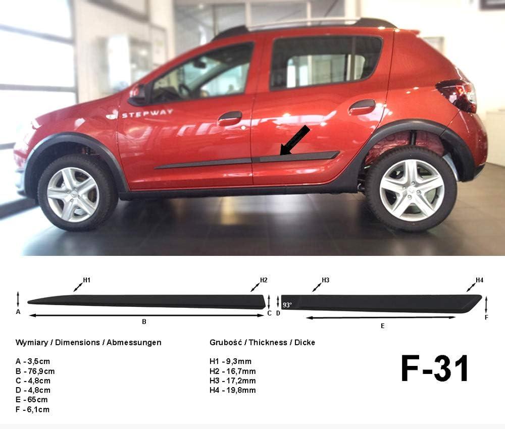 Spangenberg Seitenschutzleisten Schwarz Passend Für Dacia Sandero Stepway Ii 2 Generation Ab Baujahr 10 2012 F31 3700031 Auto