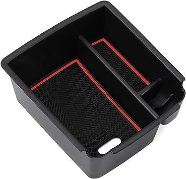 Lfotpp Kompatibel Mit Mittelkonsole Aufbewahrungsbox Armlehne Organizer Mittelarmlehne Zubehör Tiguan 2 Mk2 Auto