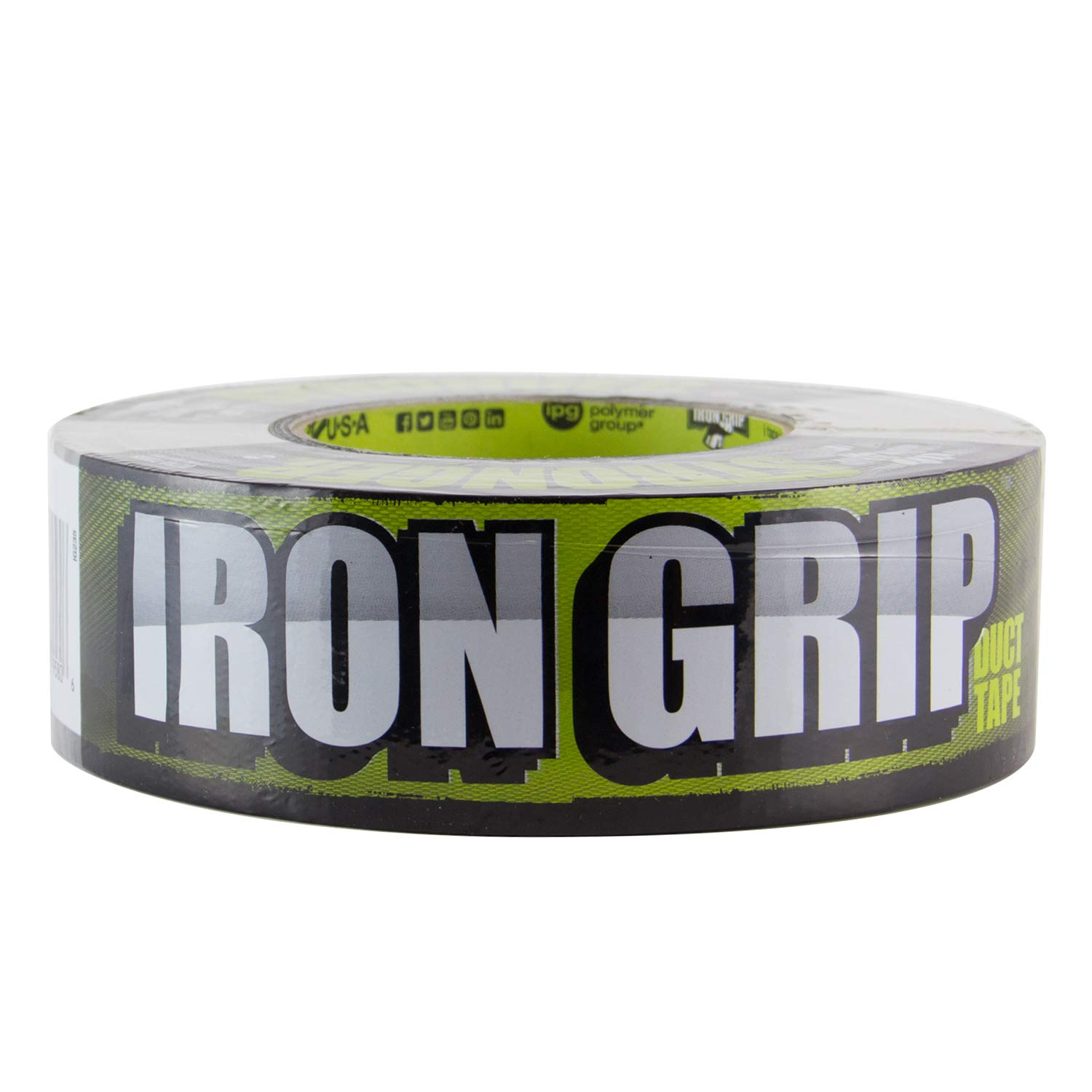 IPG Iron Grip 17 Mil Heavy Duty Duct Tape 1.88'' x 35 yd, Black by Intertape Polymer Group