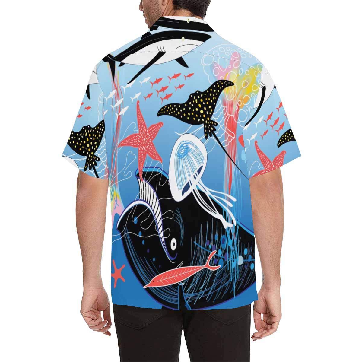 InterestPrint Mens Man Flying with Balloon Lights Tees Tops T-Shirts