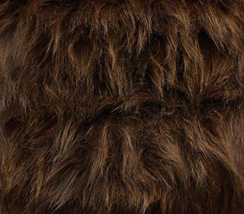 Monkey Fur - Faux Fur Fabric Long Pile Monkey Shaggy BROWN / 60