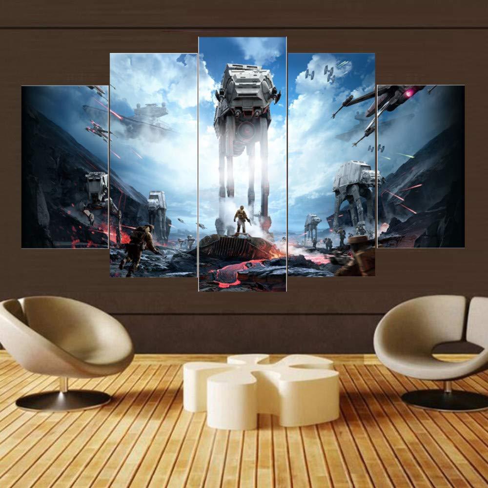 30x40 30x60 30x80 MIYCOLOR 5 Piezas Pintura de la Lona Star War Movie Poster Modern Home Decor para la Sala de Arte de la Pared Impresi/ón de la Lona Fotos Pintura