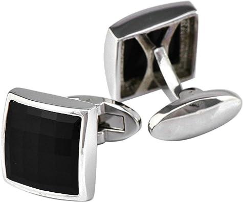 AnazoZ Gemelos Camisa Hombre Cobre Gemelos de Camisa Hombre Cuadrado Gemelo Negro: Amazon.es: Joyería
