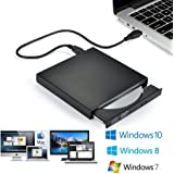 Blingco External CD Drive USB2.0, USB Slim Portable CD-RW DVD-R Combo Burner Player for Laptop, Mac, PC Desktop Computer and Play for Windows 2000 / XP/Vista / Windows 7 Black