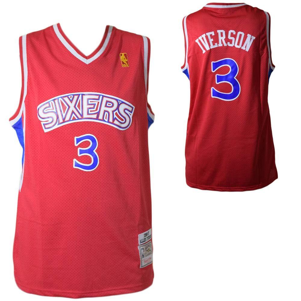 Mitchell & Ness Maillot Philadelphia 76ers Allen Iverson #3: Amazon.es: Ropa y accesorios