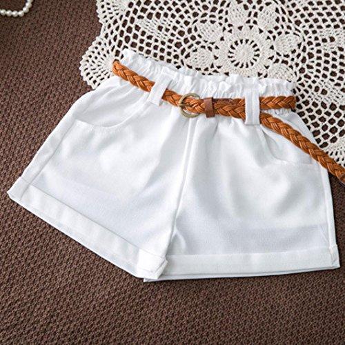 Azul suelta T Top verano con Girls Shorts Floral sin 2pcs mangas de Moda Ropa Match Adeshop Belt shirt encanto Temporada Set marino Casual Chic Blusa Tops BnZxSU