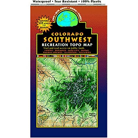 Ridgeway Colorado Map.Amazon Com Southwest Colorado Trails Recreation Topo Map