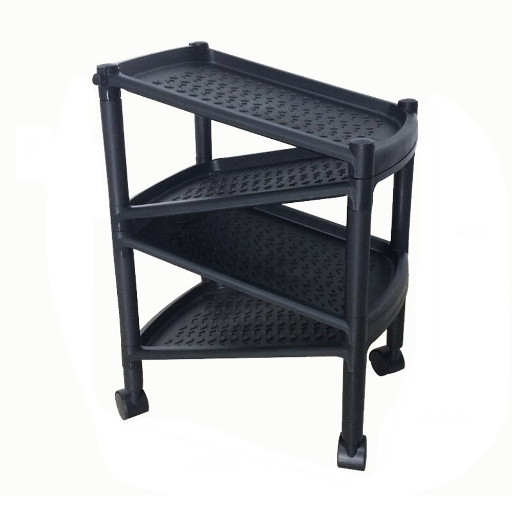 LQQFFShoe rack Multi-layer free-assembly shoe rack, shoe storage, creative storage rack. (Color : Black)
