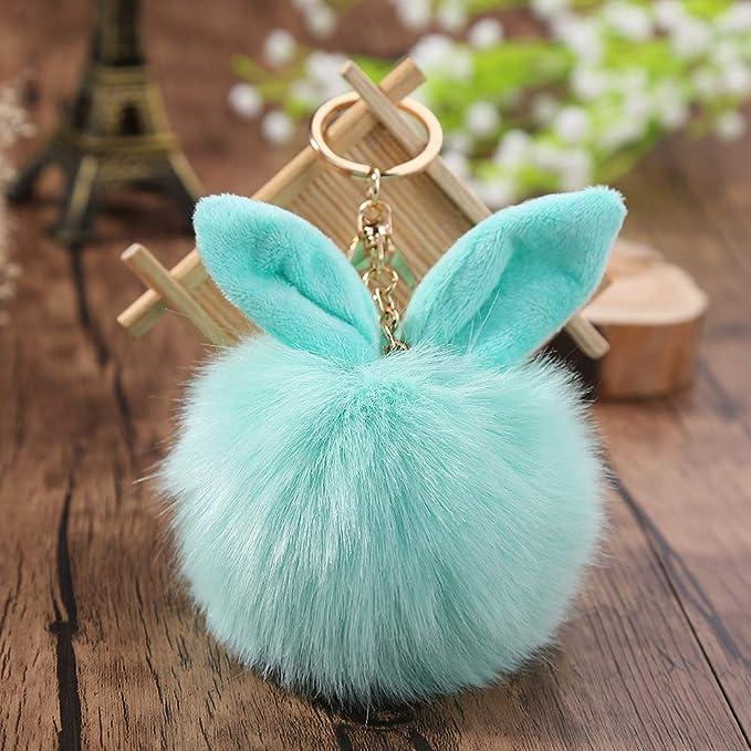 Amazon.com: Rarido - Llavero de piel de conejo, diseño de ...