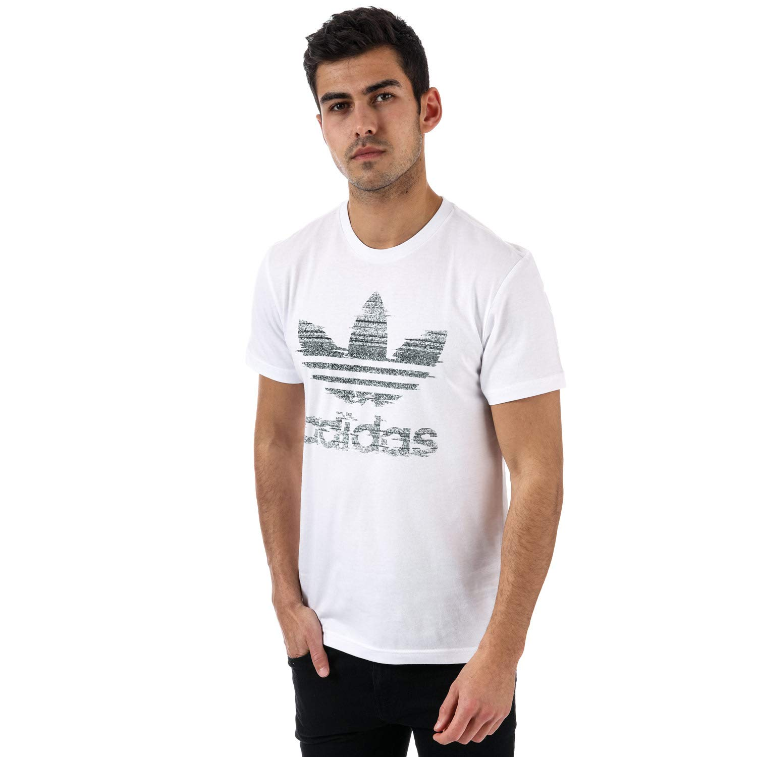1687ba7d3cca2 adidas Originals Mens Traction in Action Trefoil T-Shirt in White