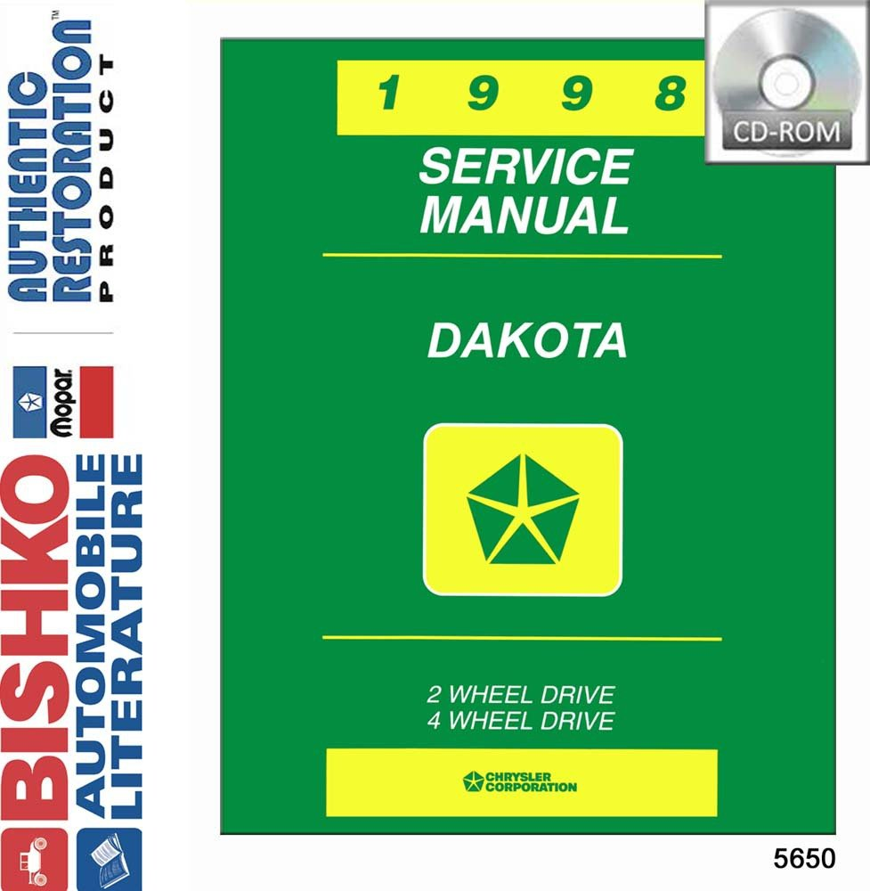 Amazon.com: bishko automotive literature 1998 Dodge Dakota Truck Shop  Service Repair Manual CD Engine Drivetrain Wiring: Automotive