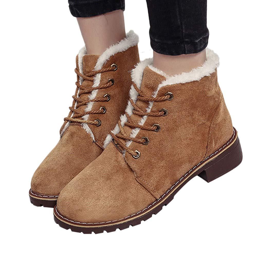 MYMYG Botas de Nieve para Mujer Mocasines Botas de Tobillo Botas Militares Merceditas Zapatos Otoño Invierno Botas de Nieve de Las Mujeres Sandalias de Vestir
