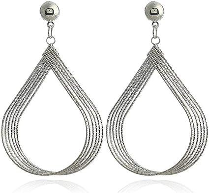 boucles d'oreilles pendantes metal