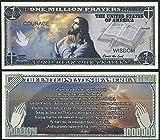 Jesus Serenity Prayer Million Dollar Novelty Bill -Lot of 2 Bills