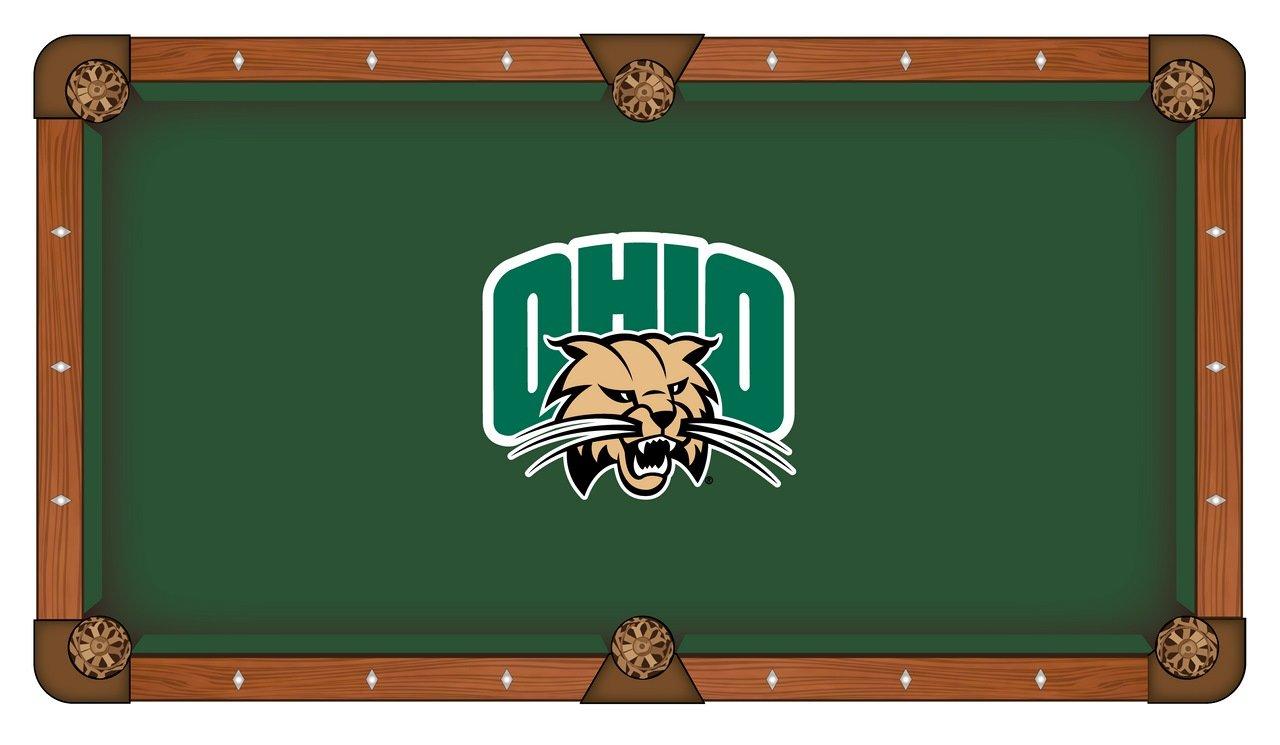 Ohio Bobcats HollandバースツールCo。グリーンビリヤードプールテーブルクロス B01KMZ9MG0  8' (104\