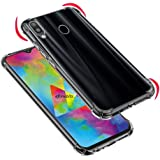 Efonebits Protective Soft Transparent Shockproof Hybrid Protection Back Case Cover for Samsung Galaxy M30