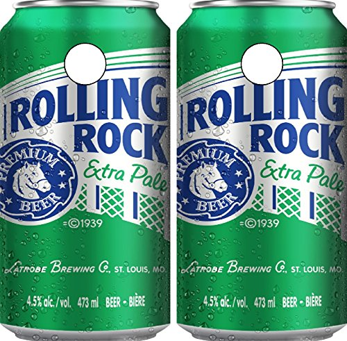 C274 Rolling Rock CORNHOLE WRAP WRAPS LAMINATED Board Boards Decal Set Decals Vinyl Sticker Stickers Bean Bag Game Vinyl Graphic Tint Image