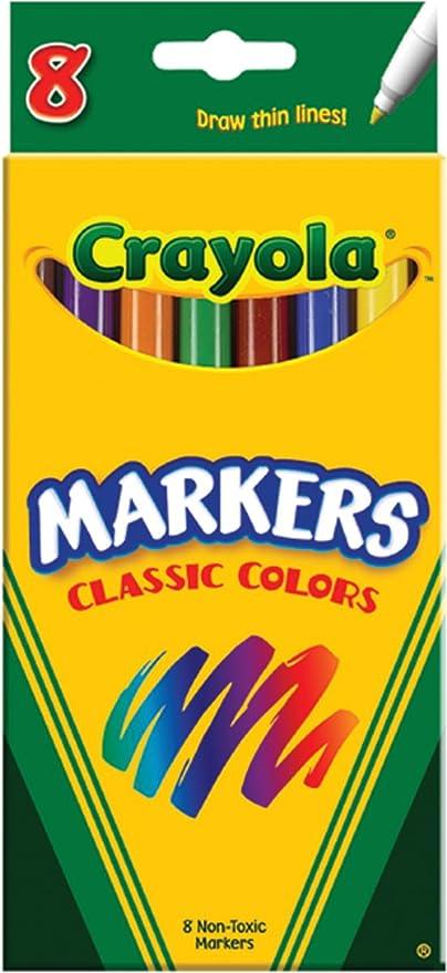 Línea fina colores Marcador-Clásicos 8/Package de Crayola: Crayola ...