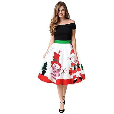 Covermason Mujer Navidad Falda, Dulce Christmas Monigote de Nieve ...