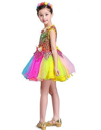 47debf6ef1622 新品入荷 スパンコール ダンス衣装 ワンピース 衣装 ドレス チュチュスカート 子供 キッズ 女の子 男の子 ダンス衣装