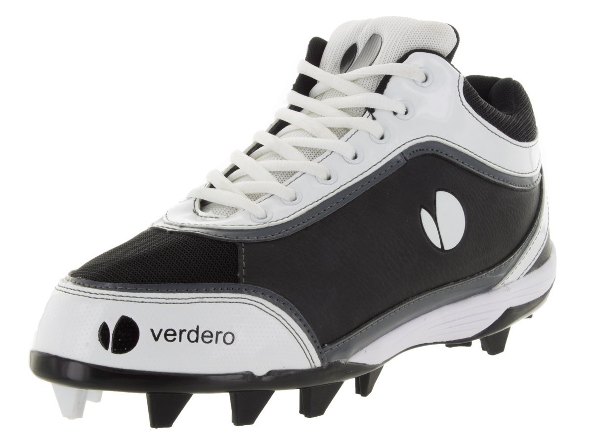 Verdero m-spike Molded Baseball Cleats B00NQ9AL5G Size 9.5|ブラック/ホワイト ブラック/ホワイト Size 9.5